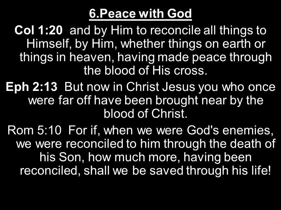 6.Peace with God
