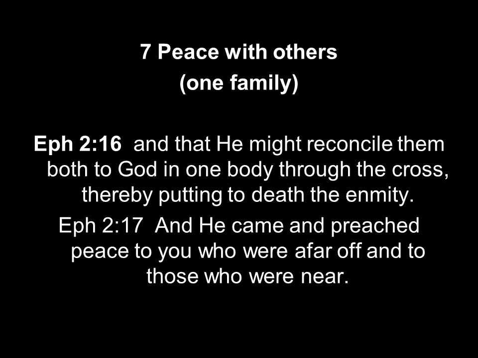 7 Peace with others (one family)