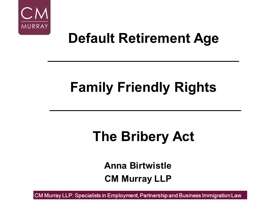 Anna Birtwistle CM Murray LLP