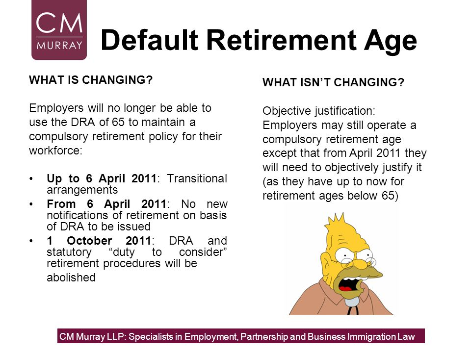 Default Retirement Age