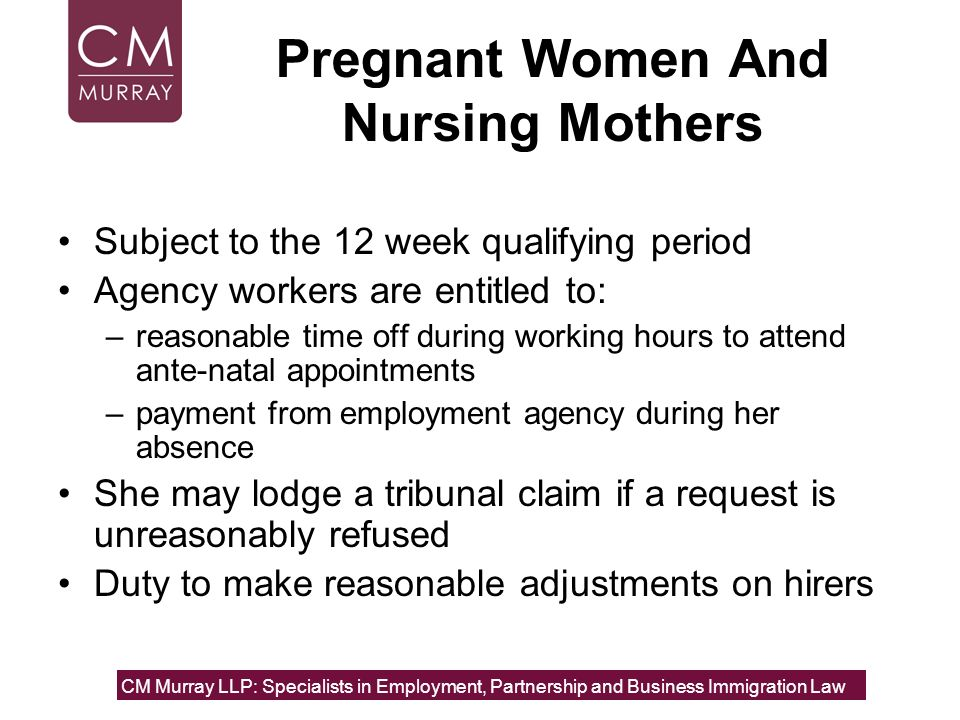 Pregnant Women And Nursing Mothers