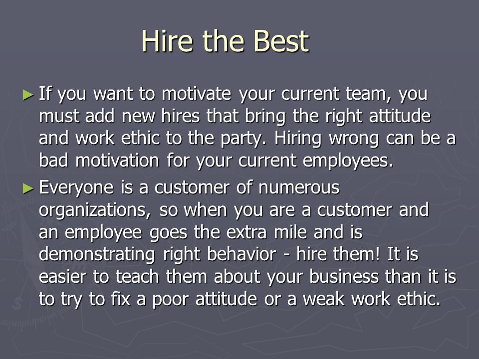Hire the Best