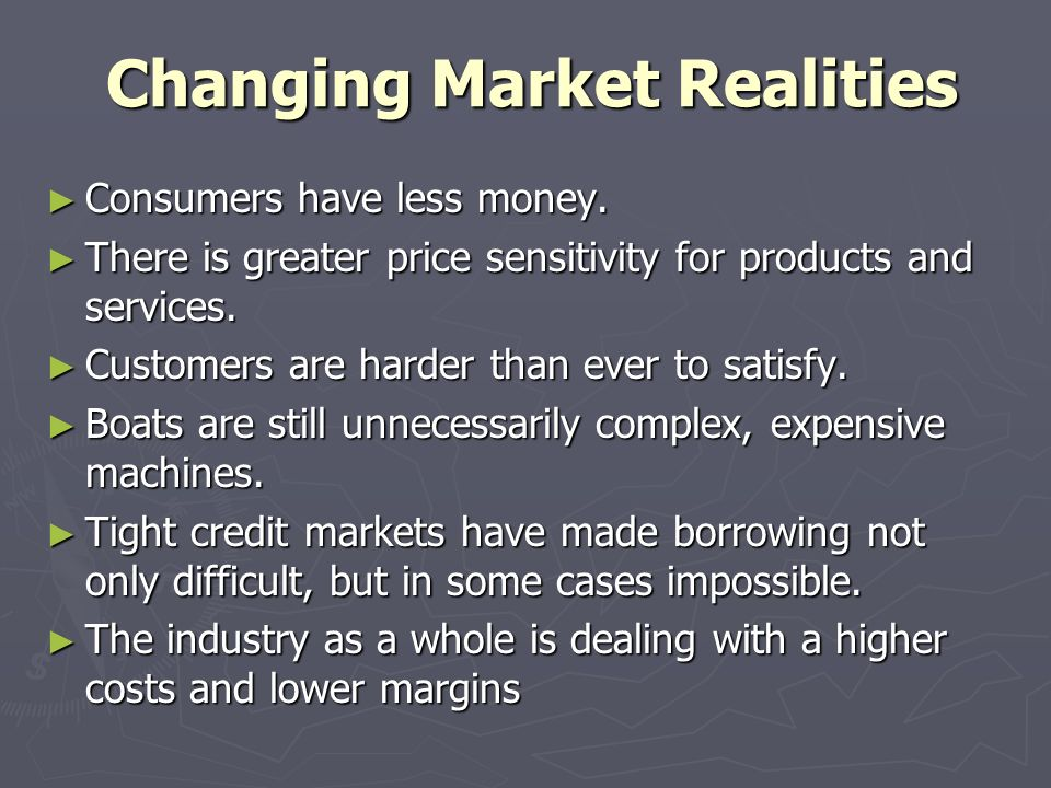 Changing Market Realities