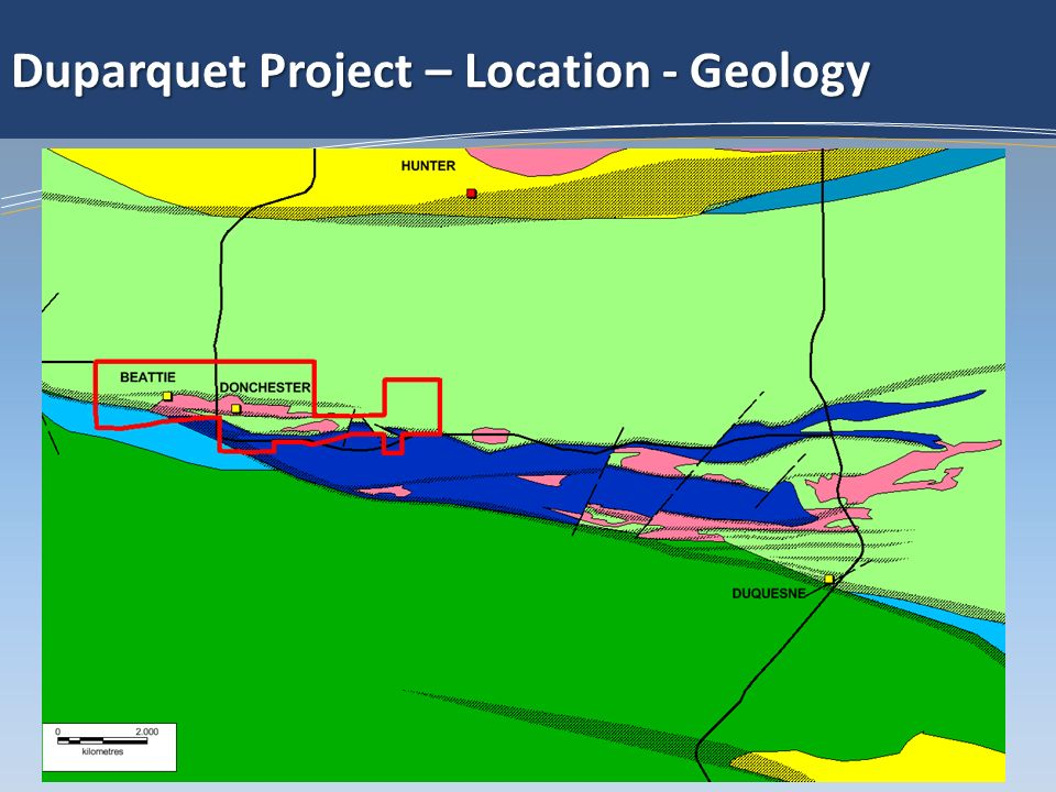 Duparquet Project – Location - Geology