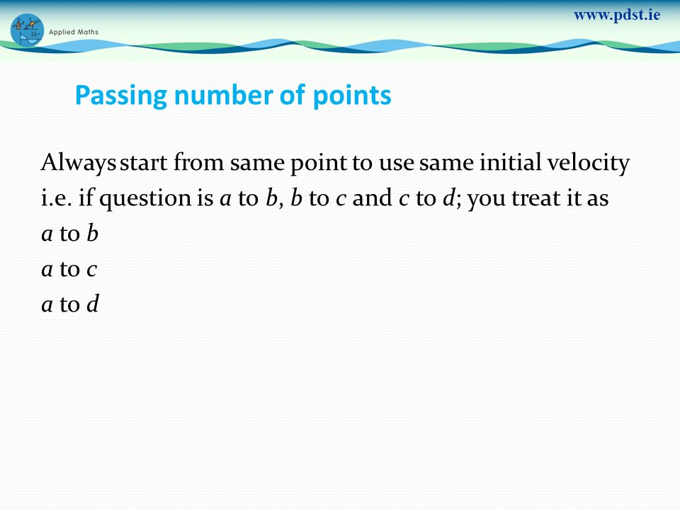 Passing number of points