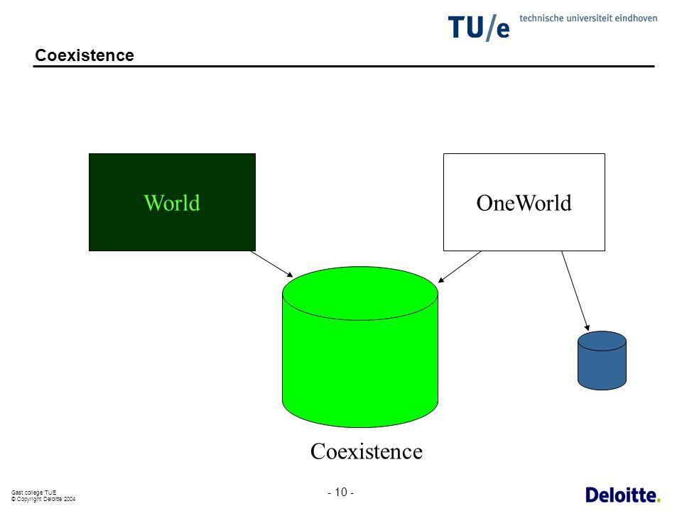 Coexistence World OneWorld Coexistence - 10 -