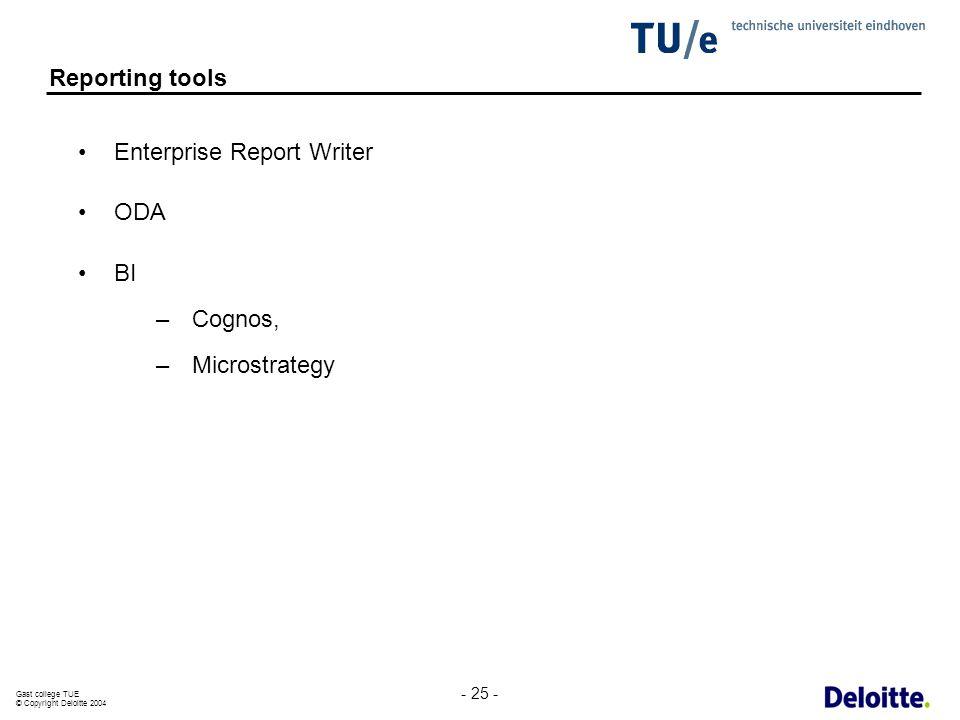 Enterprise Report Writer ODA BI Cognos, Microstrategy