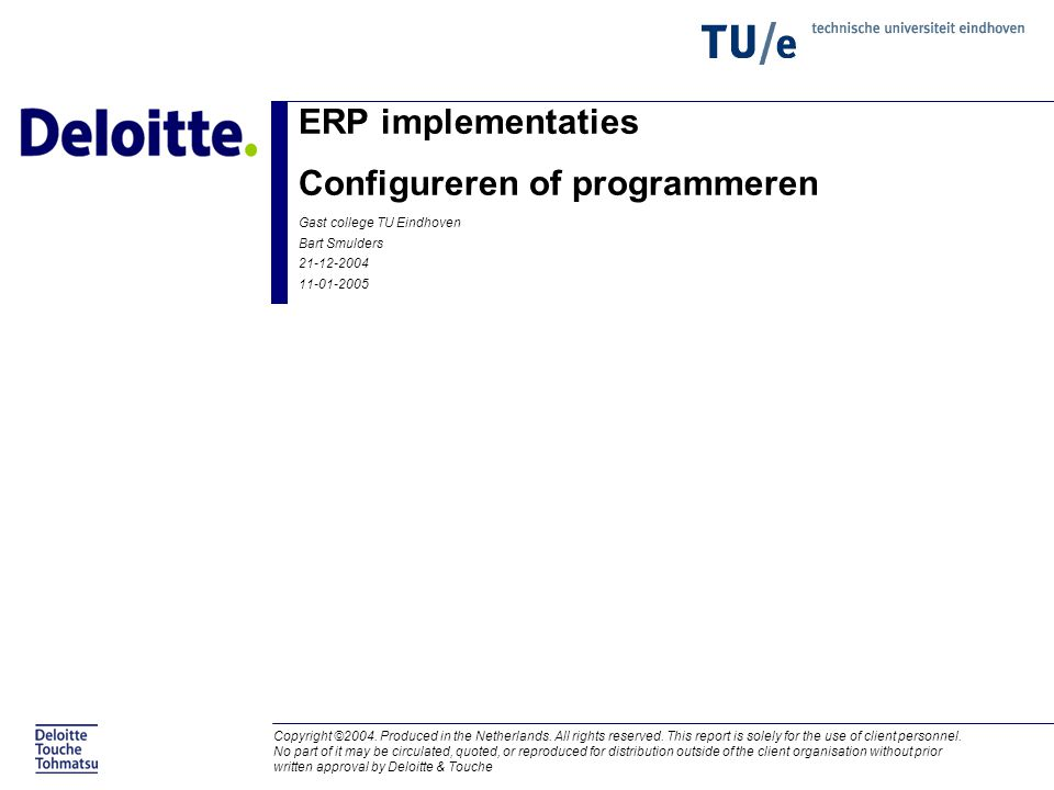 ERP implementaties Configureren of programmeren