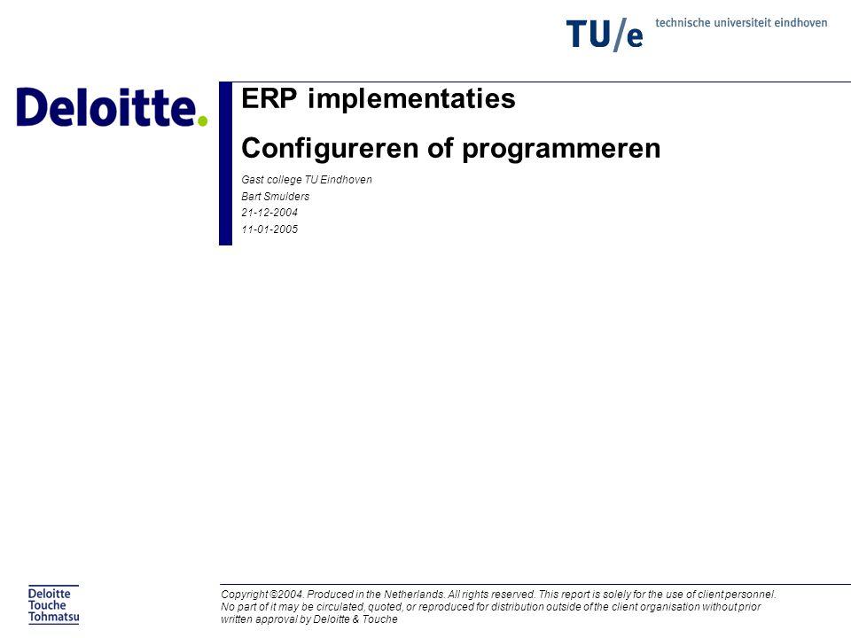 ERP implementaties Configureren of programmeren