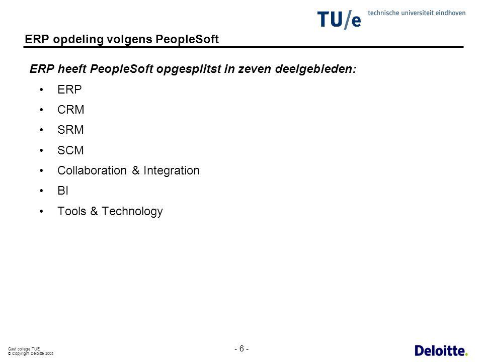 ERP opdeling volgens PeopleSoft