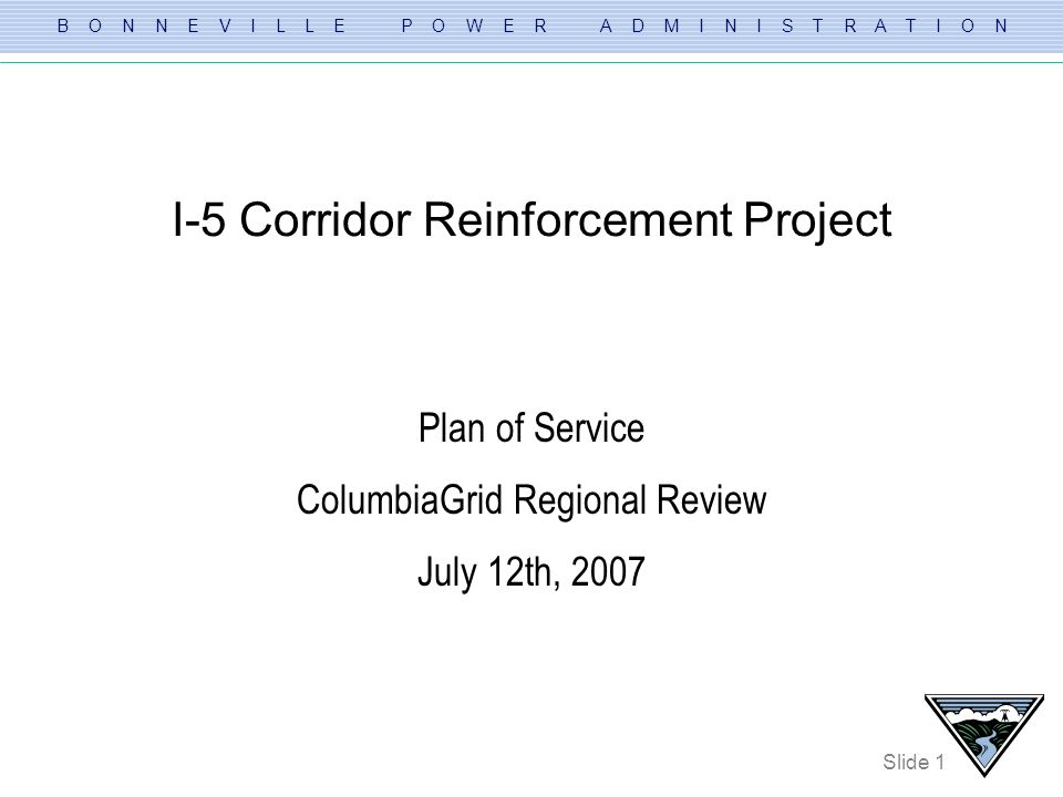 I-5 Corridor Reinforcement Project