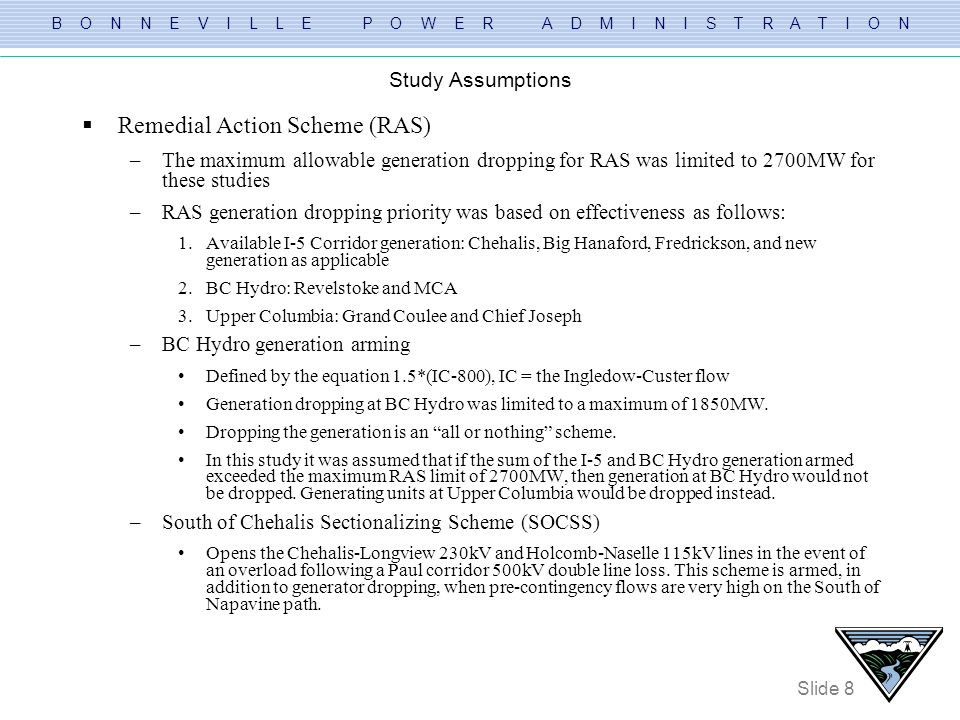 Remedial Action Scheme (RAS)