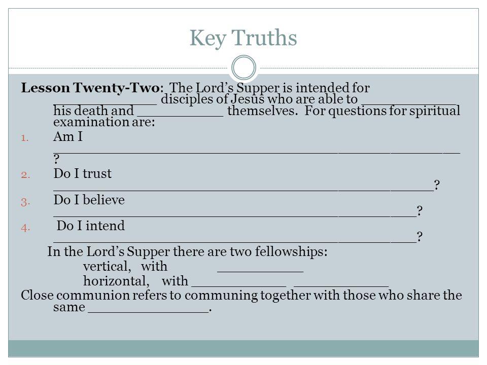 Key Truths