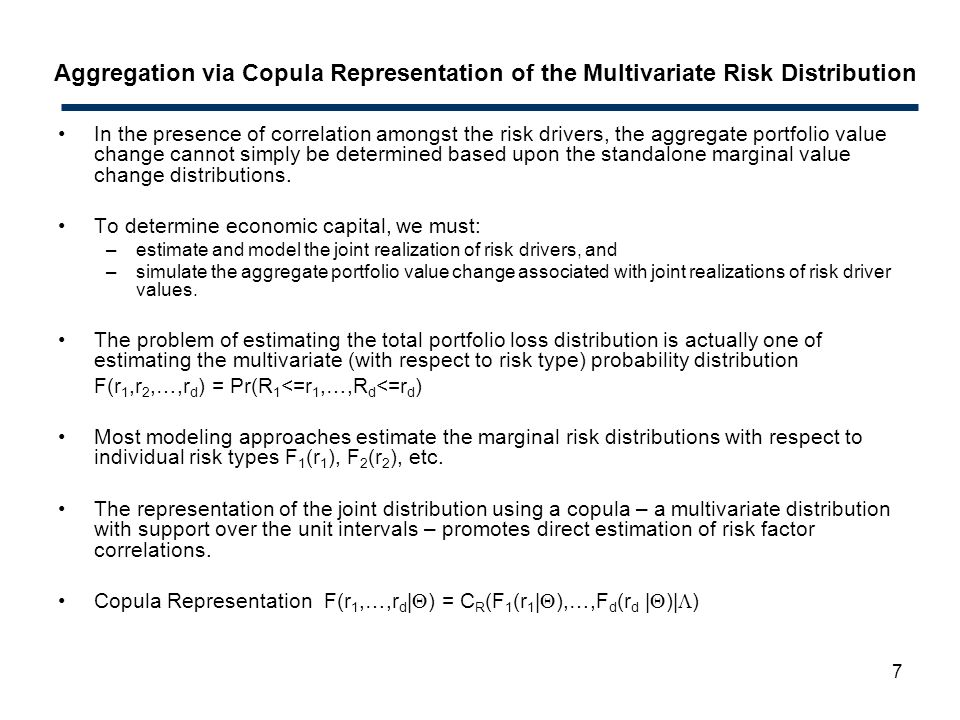 Aggregation via Copula Representation of the Multivariate Risk Distribution