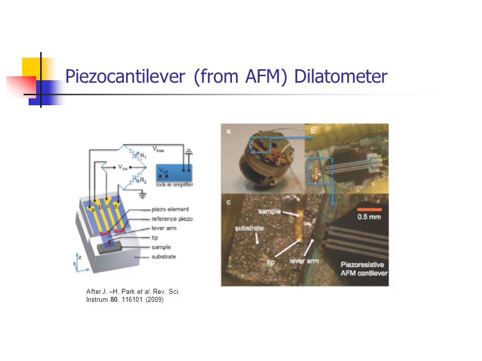 Piezocantilever (from AFM) Dilatometer