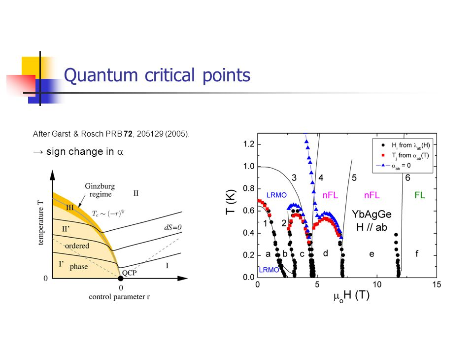 Quantum critical points