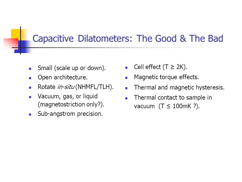 Capacitive Dilatometers: The Good & The Bad
