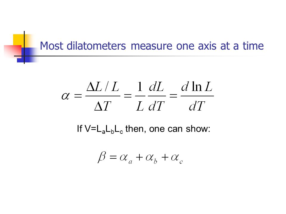 Most dilatometers measure one axis at a time