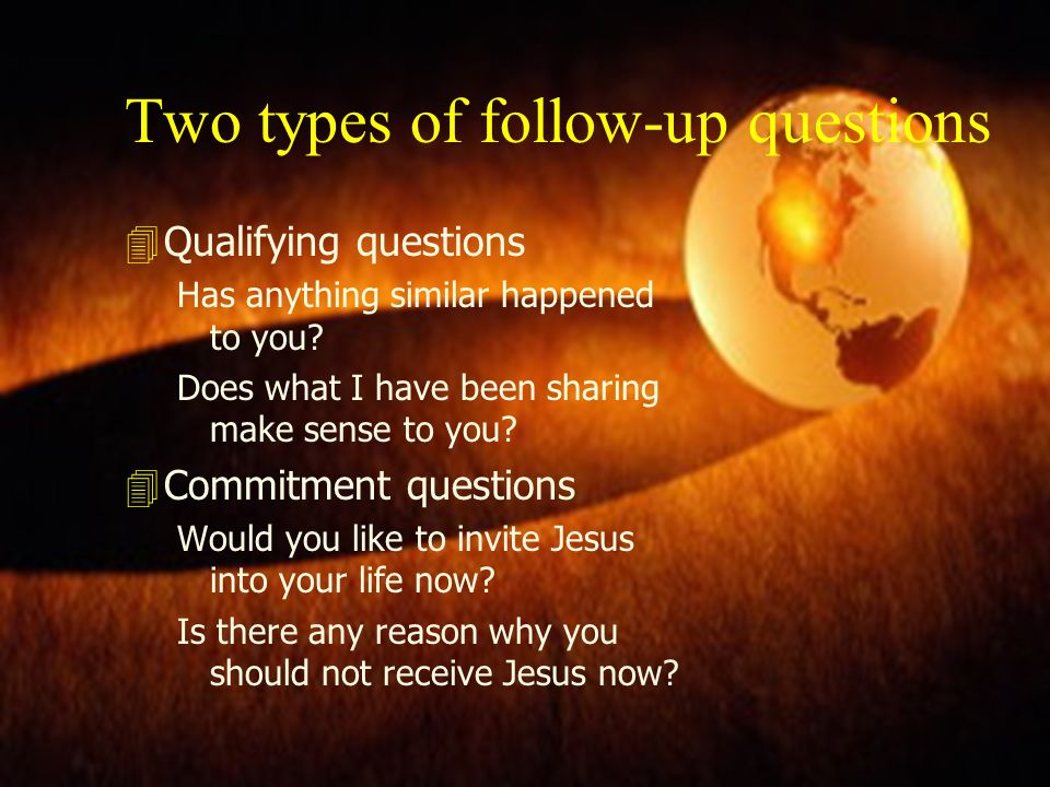Two types of follow-up questions