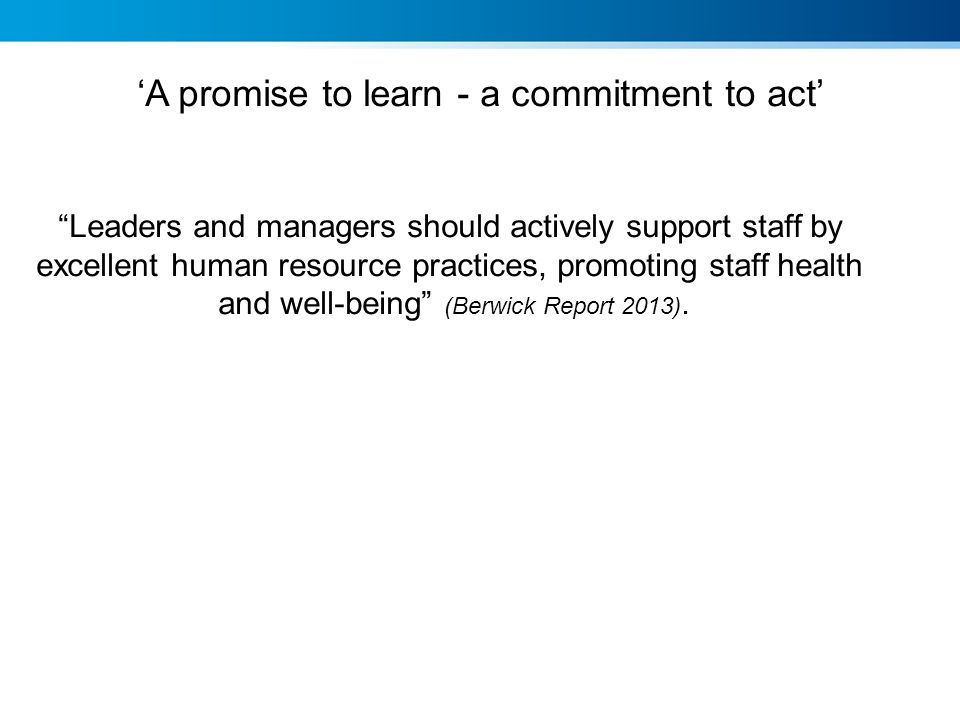 'A promise to learn - a commitment to act'