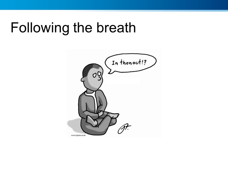 Following the breath