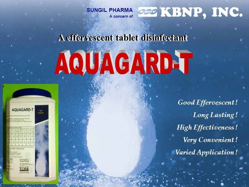 A effervescent tablet disinfectant