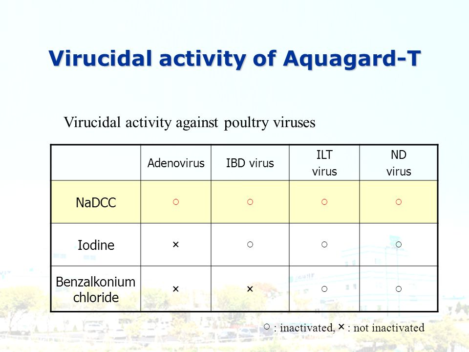 Virucidal activity of Aquagard-T