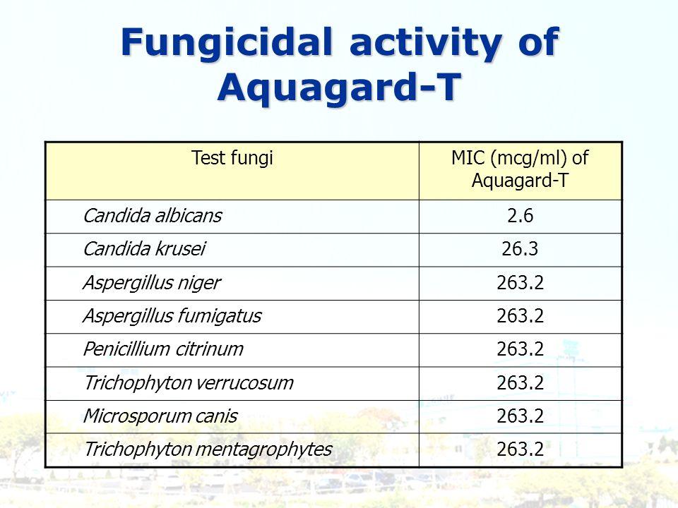 Fungicidal activity of Aquagard-T