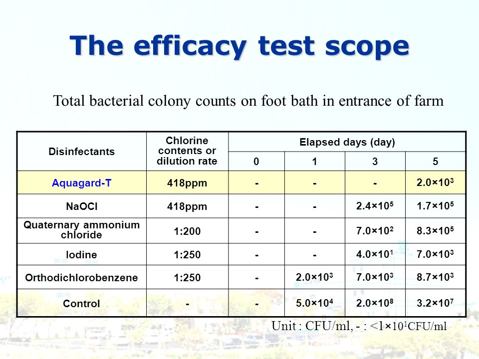 The efficacy test scope