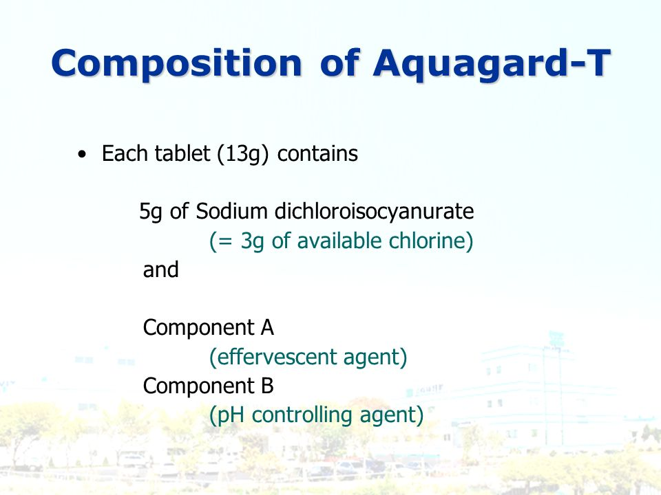 Composition of Aquagard-T