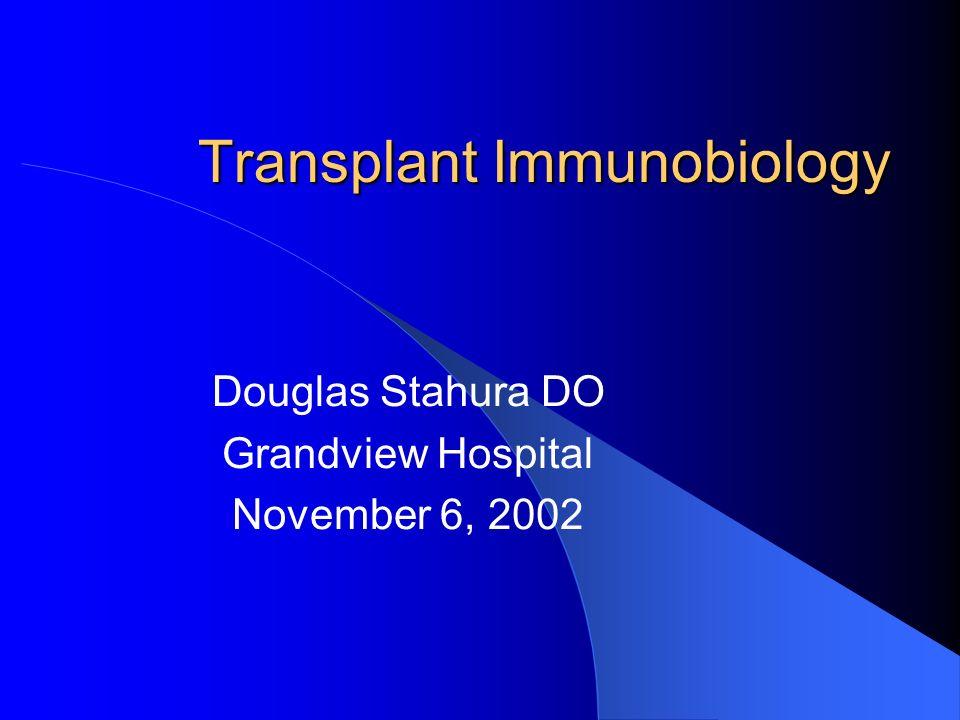 Transplant Immunobiology