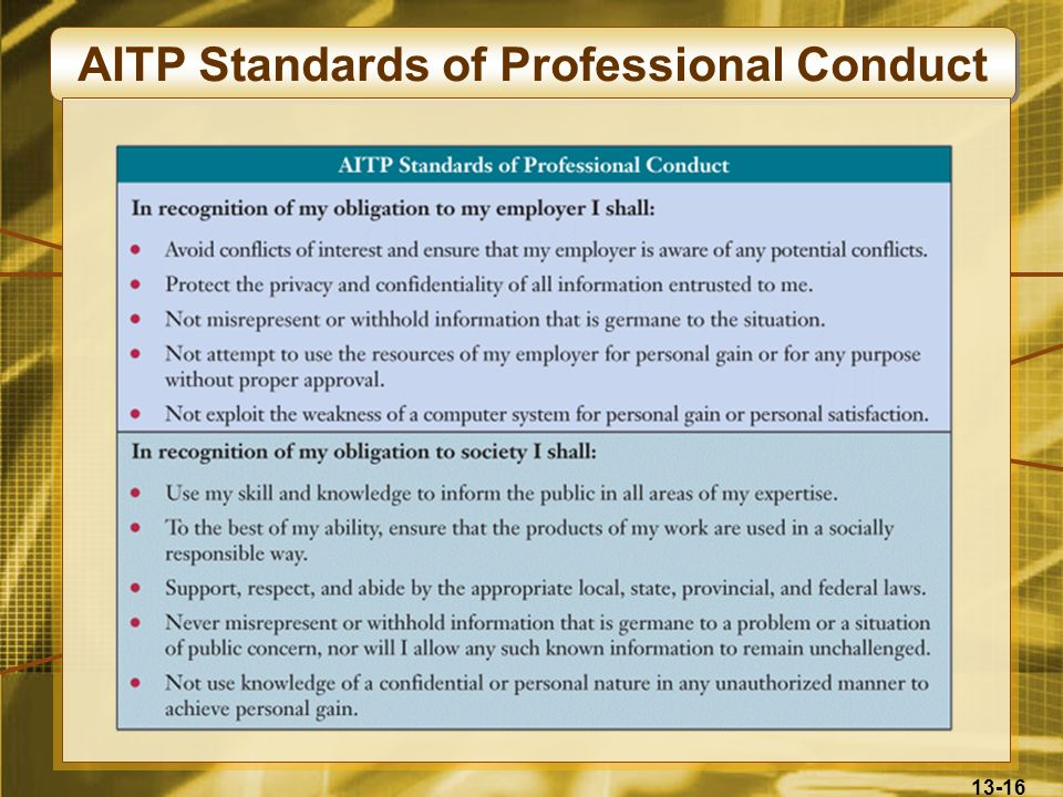 AITP Standards of Professional Conduct
