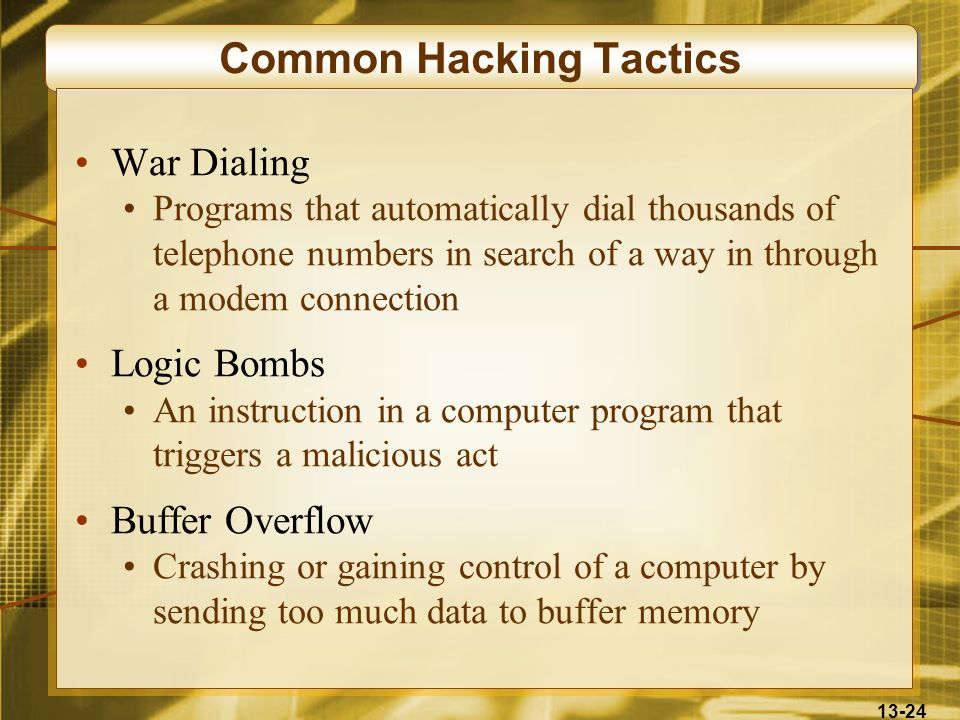 Common Hacking Tactics