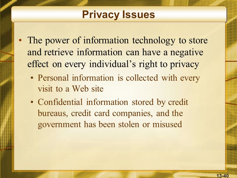 Privacy Issues
