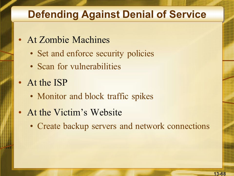 Defending Against Denial of Service