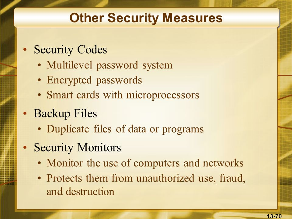 Other Security Measures