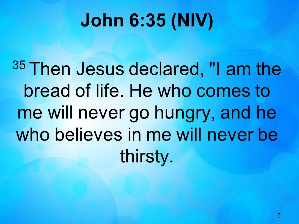 John 6:35 (NIV)