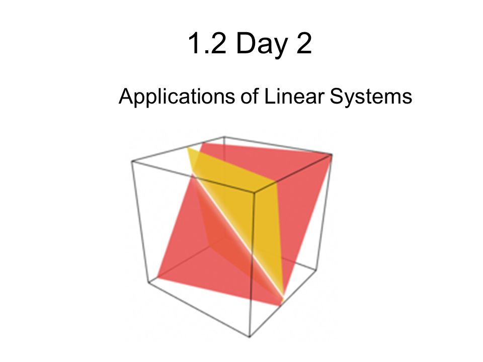 Applications of Linear Systems