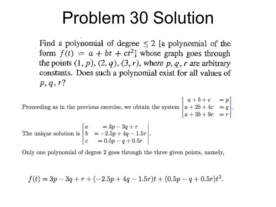 Problem 30 Solution