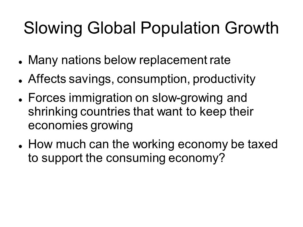 Slowing Global Population Growth