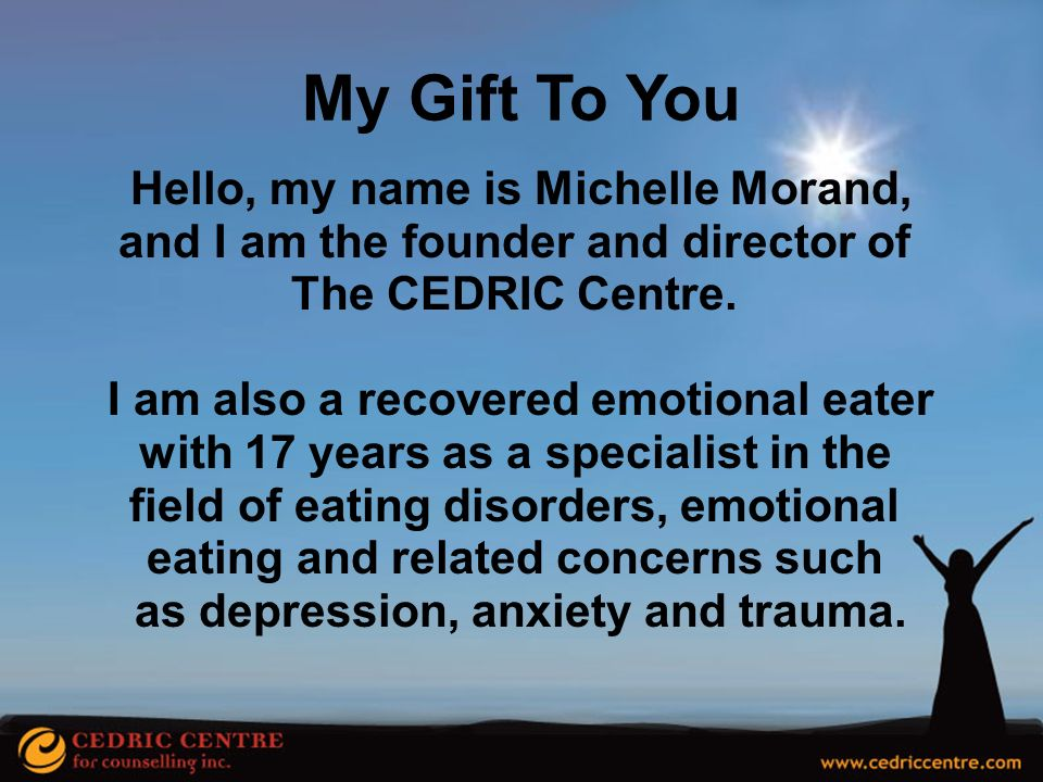 My Gift To You Hello, my name is Michelle Morand,