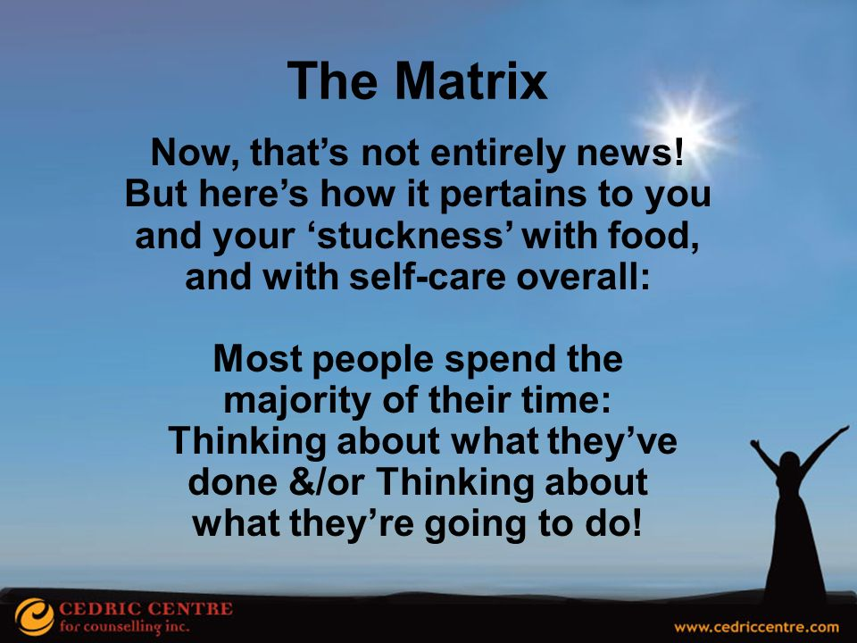 The Matrix Now, that's not entirely news!