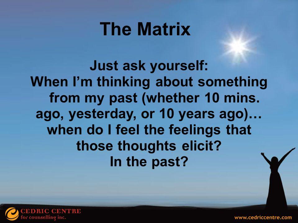 The Matrix Just ask yourself: