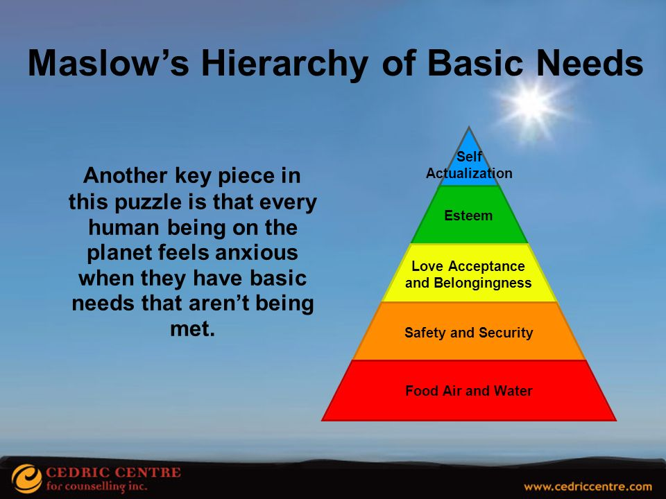 Maslow's Hierarchy of Basic Needs