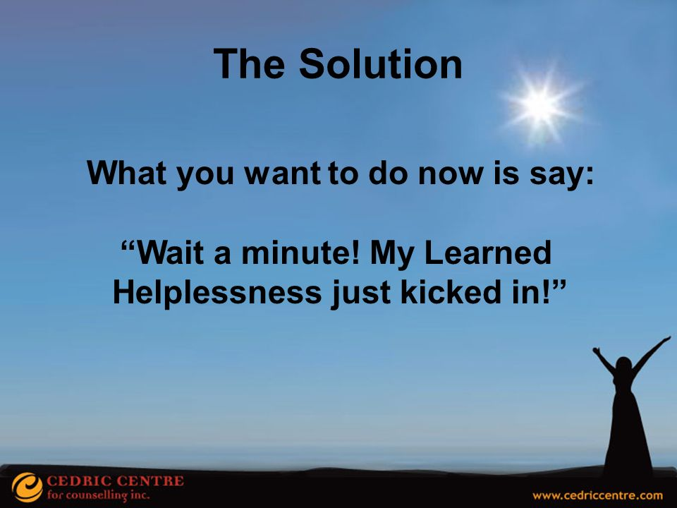 The Solution What you want to do now is say: