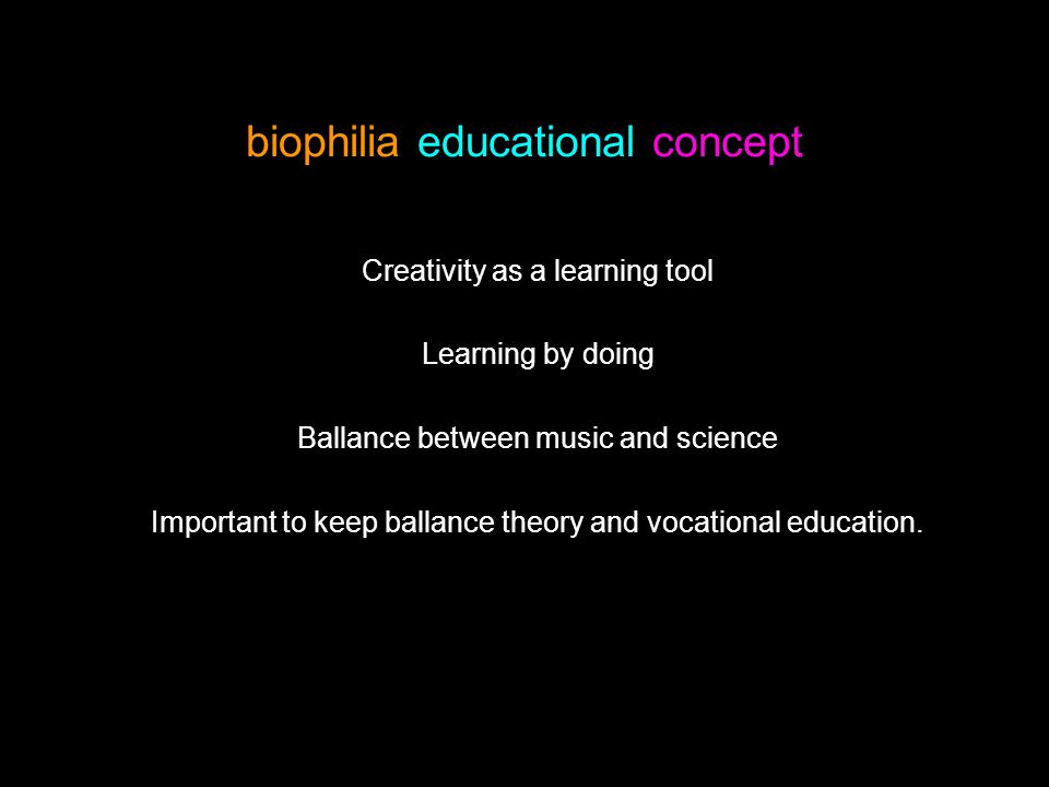 biophilia educational concept