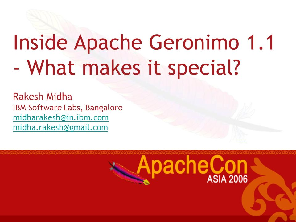 Inside Apache Geronimo 1.1 - What makes it special