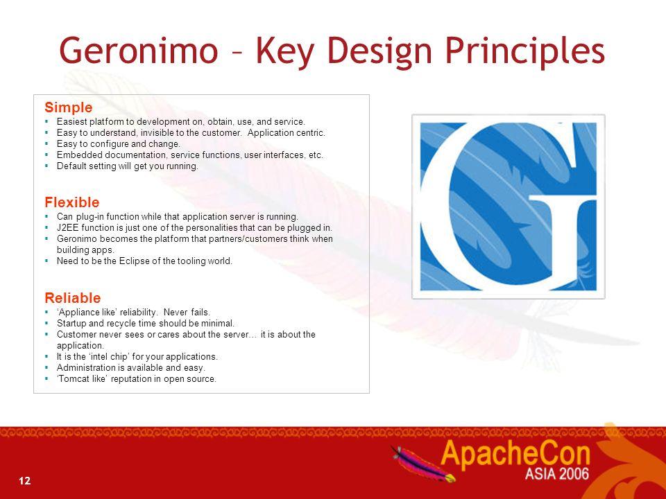 Geronimo – Key Design Principles