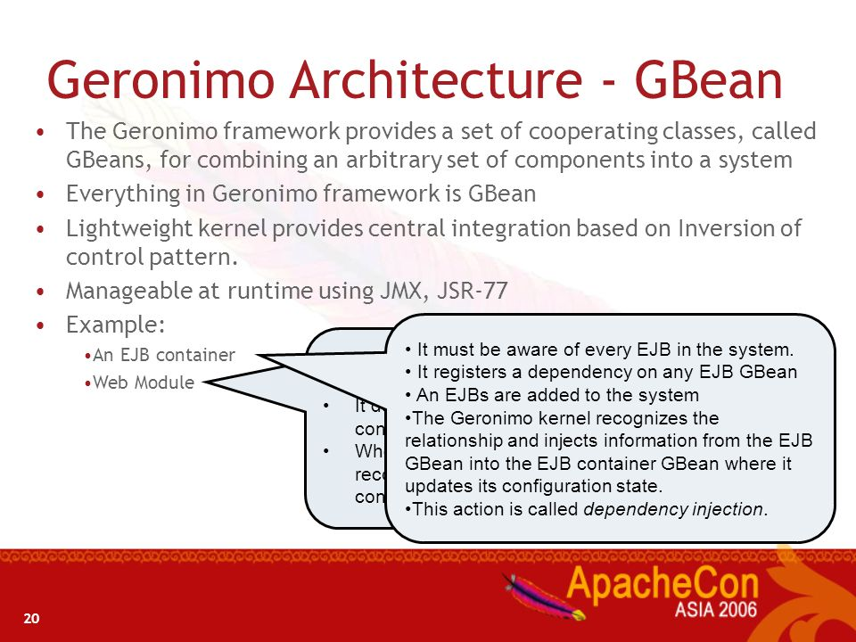 Geronimo Architecture - GBean