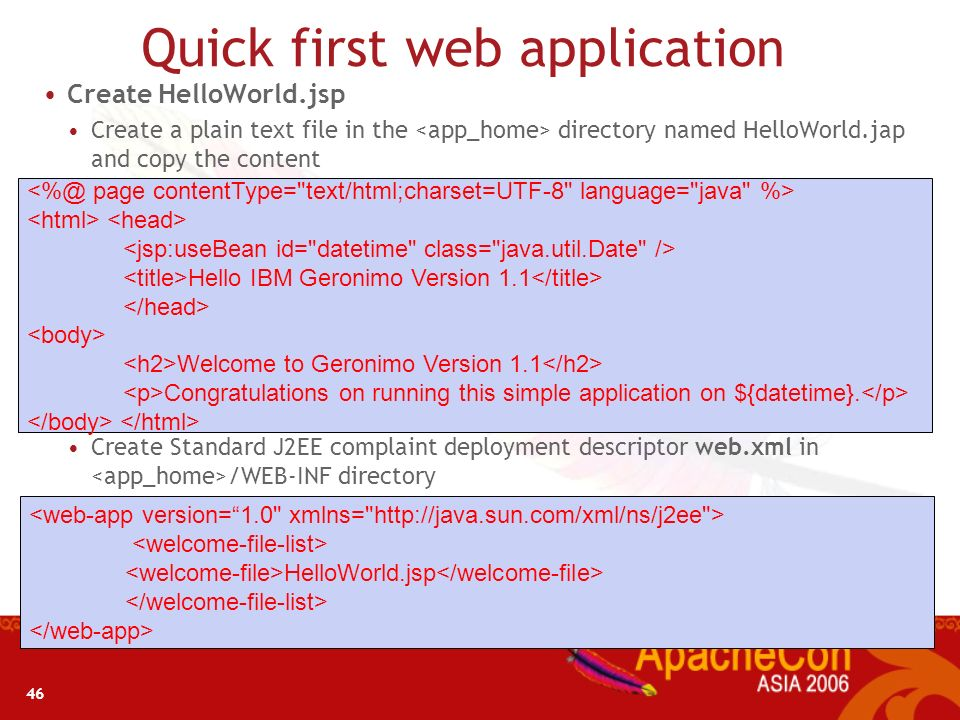 Quick first web application